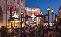 Piccadilly Circus in night.London Royalty Free Stock Photography