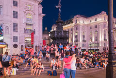 Piccadilly Circus in night.London Royalty Free Stock Image
