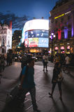 Piccadilly Circus at night, London Royalty Free Stock Photography