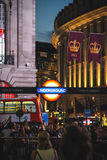Piccadilly Circus at night, London Royalty Free Stock Images
