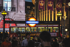 Piccadilly Circus at night, London Stock Photography