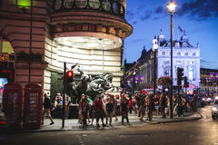 Piccadilly Circus at night, London Royalty Free Stock Photos