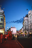 Piccadilly Circus at night, London Royalty Free Stock Photo