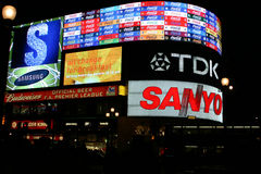 Piccadilly Circus at night Stock Photography