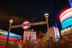Piccadilly circus at night Royalty Free Stock Photos