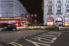 Piccadilly Circus at night Royalty Free Stock Images