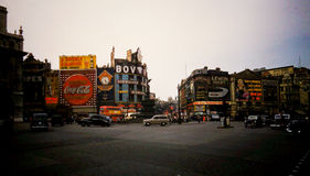 Piccadilly Circus 1960's Vintage shot Royalty Free Stock Photography