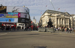 Piccadilly Circus square at Day time Royalty Free Stock Images