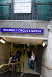 Piccadilly Circus Station entrance Stock Image
