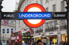 Piccadilly Circus street underground tube station Stock Photo