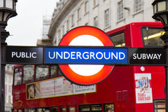 Piccadilly Circus street underground tube station Royalty Free Stock Images