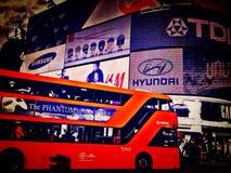 Piccadilly cirkus, centrala London, UK Arkivbild