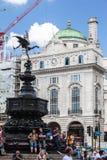 Piccadilly Cyrkowy Londyński Anglia Zdjęcia Royalty Free