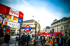 Piccadilly  in London during summer time Royalty Free Stock Photography