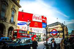 Piccadilly square London UK Royalty Free Stock Photos