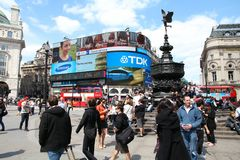 Piccadilly-Zirkus Stockbilder