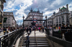 Piccadilly Zirkus in London Stockfotos