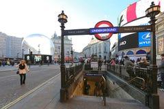 Piccadilly-Zirkus-Station Stockfotografie