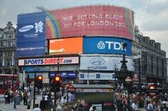 Piccadillycircus in Londen Royalty-vrije Stock Afbeeldingen