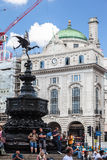 Piccadillycircus Londen Engeland Royalty-vrije Stock Foto's