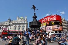Piccadillycircus Londen - Engeland het Verenigd Koninkrijk Royalty-vrije Stock Foto's