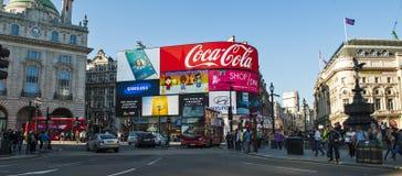 Piccadillycircus, Londen, het UK Stock Afbeeldingen