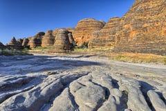 Piccaninny小河干燥河床,拙劣的工作搞糟国家公园 免版税库存照片