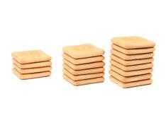 Picchetta il cracker di soda del saltine. Immagine Stock