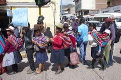Picchetto di scioperanti in Cuzco, Ecuador Immagine Stock Libera da Diritti