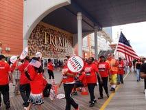 Picchetto di scioperanti dei lavoratori del sindacato Fotografie Stock