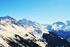 Picchi in alpi svizzere Immagine Stock