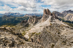 Picchi del granito in dolomia orientali, Italia Immagini Stock