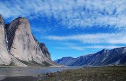 Picchi dell'isola di Baffin Fotografia Stock Libera da Diritti