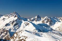 Picchi delle alpi francesi Fotografia Stock