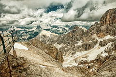 Picchi delle dolomia, Italia HDR Immagine Stock Libera da Diritti