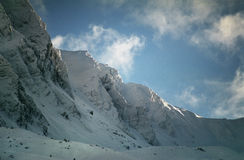 Picchi di alta montagna Immagine Stock