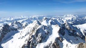 Picchi di alta montagna Fotografie Stock