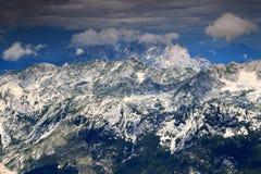 Picchi di Jof di Montasio e di Jof Fuart, Julian Alps, Italia Immagini Stock Libere da Diritti