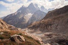 Picchi di montagna in alpi francesi, Ecrins, Francia Fotografie Stock Libere da Diritti