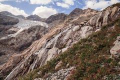 Picchi di montagna in alpi francesi, Ecrins, Francia Immagini Stock Libere da Diritti