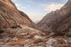 Picchi di montagna in alpi francesi, Ecrins, Francia Fotografie Stock