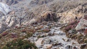 Picchi di montagna in alpi francesi, Ecrins, Francia Immagini Stock