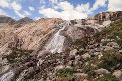 Picchi di montagna in alpi francesi, Ecrins, Francia Fotografia Stock