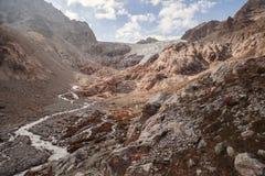 Picchi di montagna in alpi francesi, Ecrins, Francia Fotografia Stock Libera da Diritti