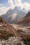Picchi di montagna in alpi francesi, Ecrins, Francia Immagine Stock Libera da Diritti