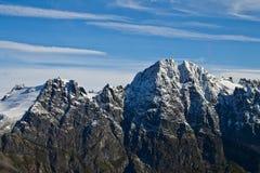 Picchi di montagna del ghiacciaio di Mendenhall Fotografia Stock
