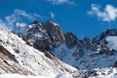 Picchi di montagna di Hight Fotografie Stock Libere da Diritti