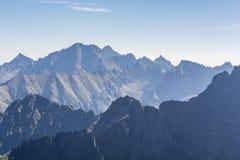 Picchi di montagna di mattina Fotografia Stock Libera da Diritti