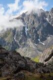Picchi di montagna irregolari Fotografia Stock Libera da Diritti