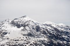 Picchi di montagna maestosi nelle alpi Fotografia Stock Libera da Diritti